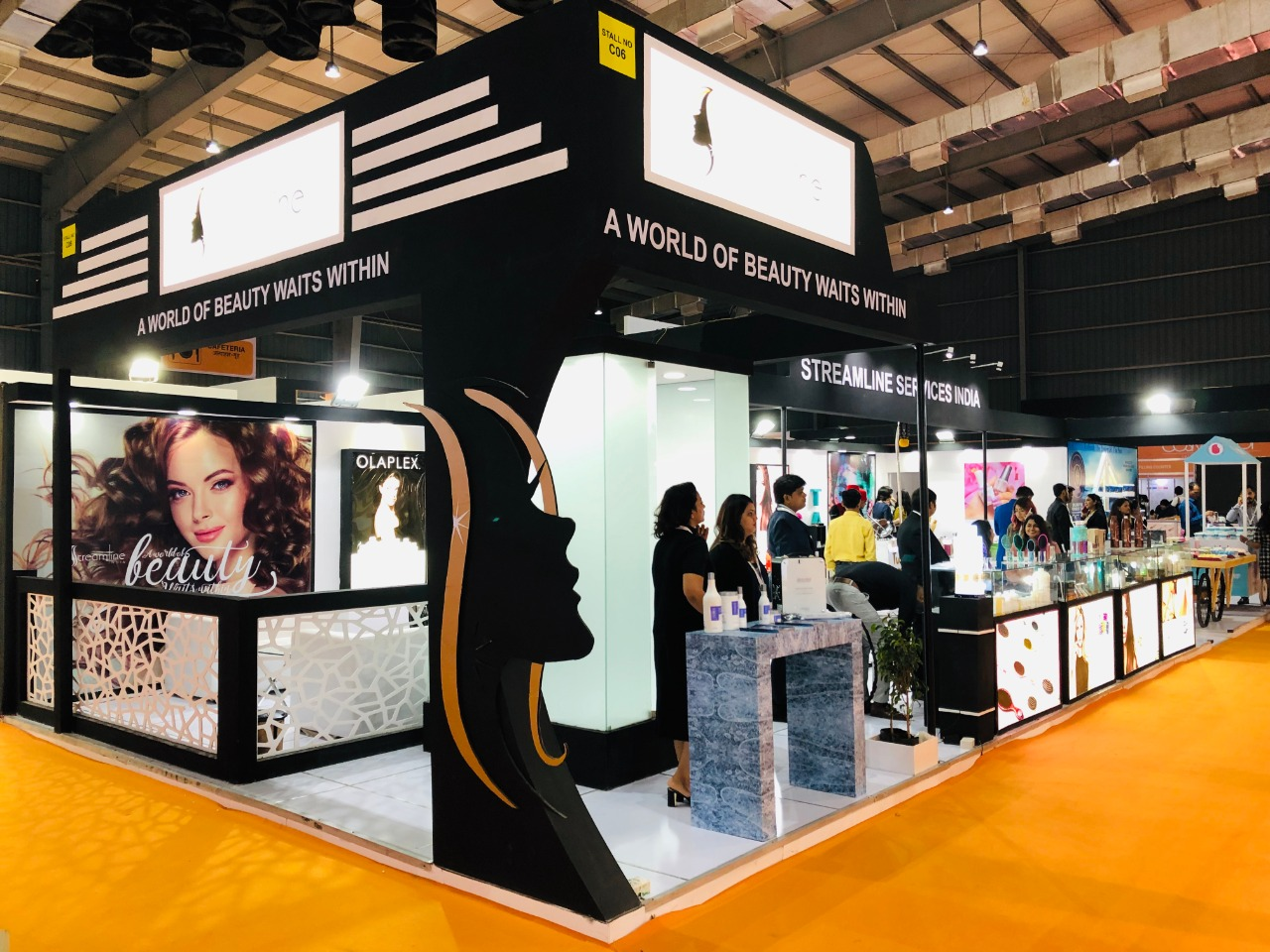 Exhibition Stand Builder creates stunning Beauty in COSMOPROF INDIA